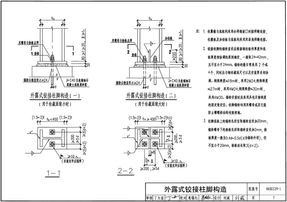 06sg529-1:单层房屋钢结构节点构造详图