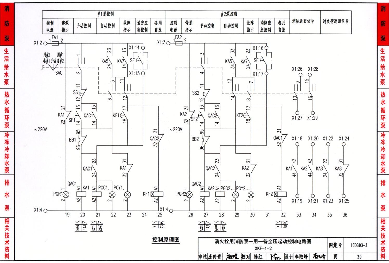 10d303-3:常用水泵控制电路图
