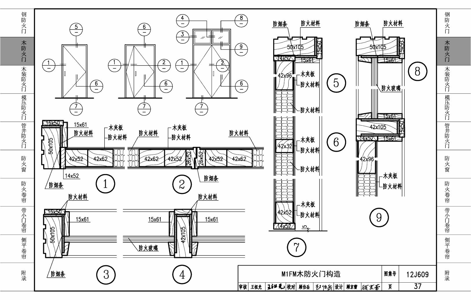 12J609:设计门窗-标准建筑国家防火网12x10米房屋农村设计图图片